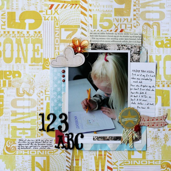 Scrapbooking Ideas for Telling A Story with Numbers | Lise Mariann Alsli | Get It Scrapped