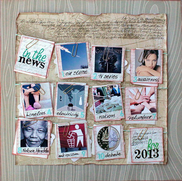 Scrapbooking Ideas for Recording a Top 10 Round-Up of Current Culture   Kiki Kougioumtzi   Get It Scrapped