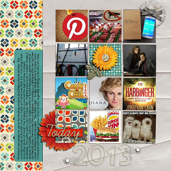 Scrapbooking Ideas for Recording a Top 10 Round-Up of Current Culture   Stefanie Semple   Get It Scrapped