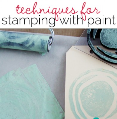 Mixed Media Techniques with Michelle Houghton | Stamping with Paint | Get It Scrapped
