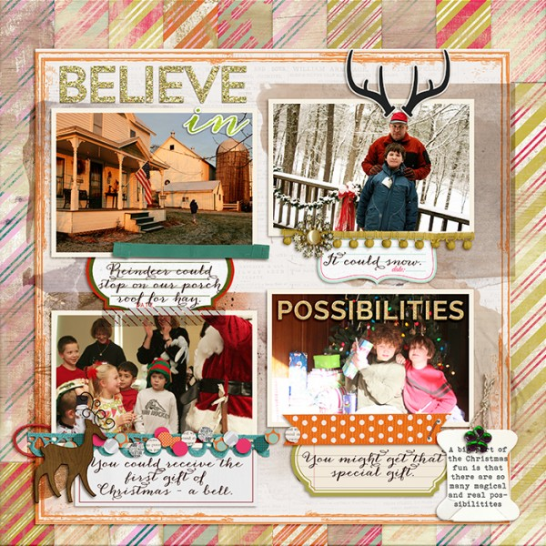 Scrapbooking Ideas for Using Striped Patterned Paper  to Evoke a Mood | Debbie Hodge | Get It Scrapped