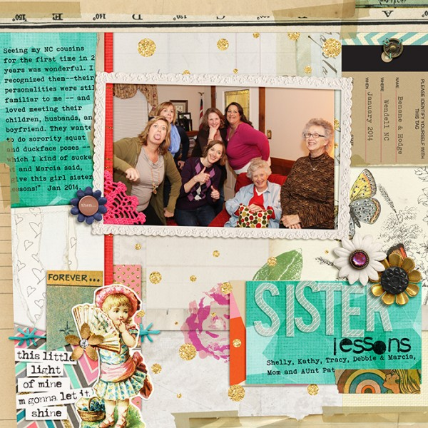 Scrapbooking Ideas For Collaged Storytelling | Debbie Hodge | Get It Scrapped