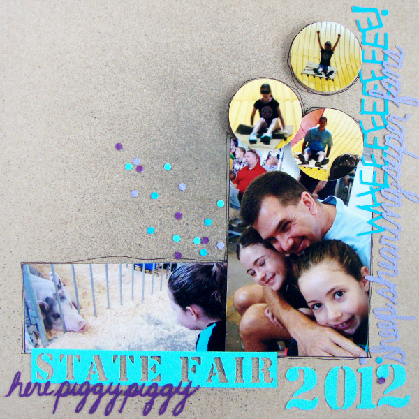 Scrapbook Page Starters: Arrange Photos and Elements with a Bracket Foundation |  Michelle Houghton | Get It Scrapped