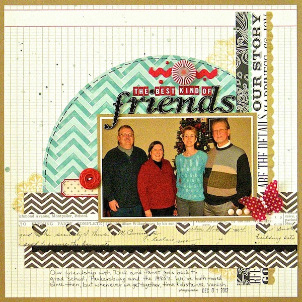 Scrapbook Page Starters: Arrange Photos and Elements with a Bracket Foundation |  Sue Althouse | Get It Scrapped