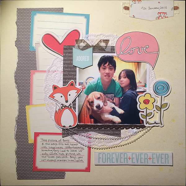 So That's Hybrid? 8 Ideas for Using Digital Scrapbooking Products On Paper Pages | Audrey Tan | Get It Scrapped