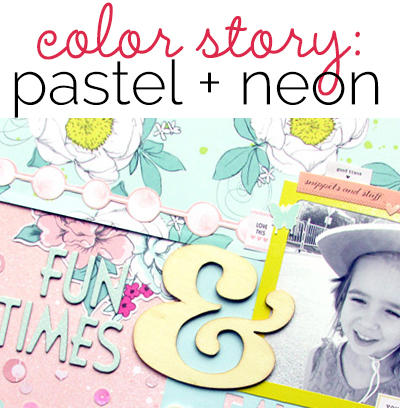 Add Pop to A Pastel Color Treatment with Neons