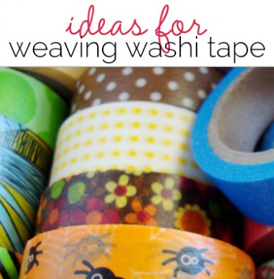 Ideas for Weaving with Washi Tape from Michelle Houghton