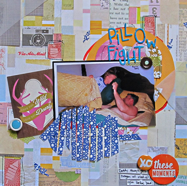 Scrapbook Page Storytelling with Cut-Paper Collage | Christy Strickler | Get It Scrapped