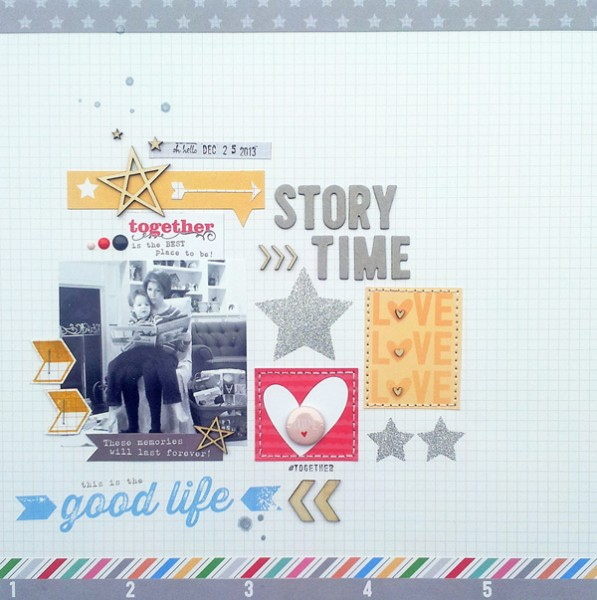 6 Scrapbook Page Stories to Tell with Glitter |  Ashley Horton | Get It Scrapped