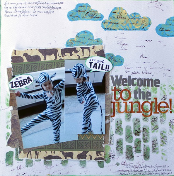 Scrapbooking Ideas for Layered Stencilwork | Kiki Kougioumtzi | Get It Scrapped