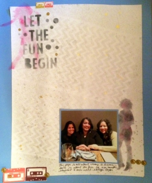 Scrapbooking Ideas for Layered Stencilwork | Rosann Santos Elliott | Get It Scrapped