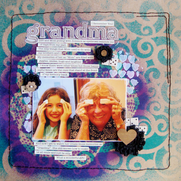 Scrapbooking Ideas for Layered Stencilwork | Michelle Houghton | Get It Scrapped
