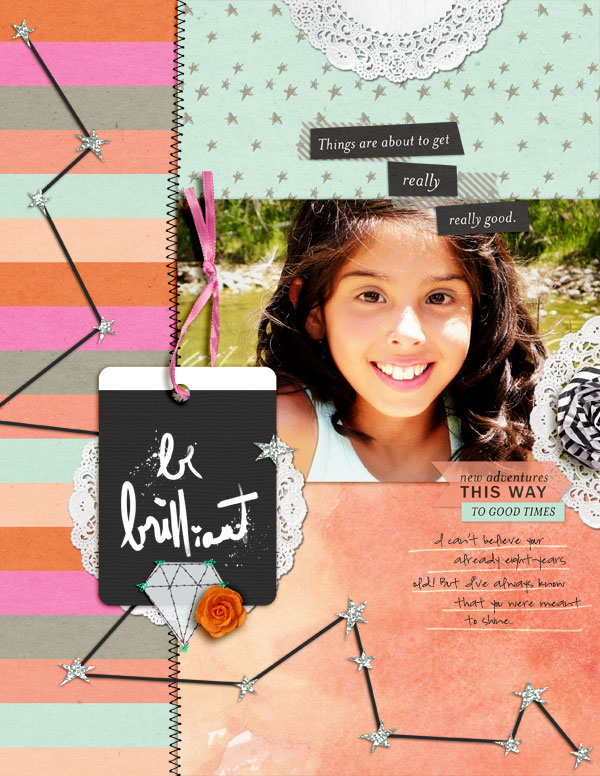 Scrapbooking Ideas for Storytelling and Design with the Constellation Motif | Get It Scrapped | Amy Kingsford