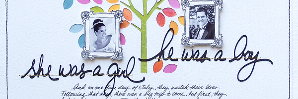 It's a Love Story | Scrapbook Ideas for Telling Your Love Story