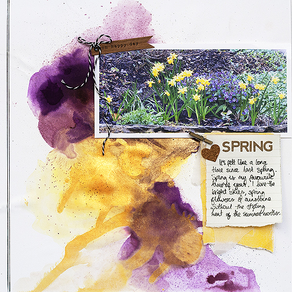 Scrapbooking Ideas for a Trendy Complementary Color Scheme of Purple and Yellow | Amanda Robinson | Get It Scrapped