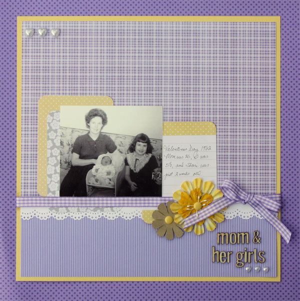 Scrapbooking Ideas for a Trendy Complementary Color Scheme of Purple and Yellow | Brenda Becknell | Get It Scrapped