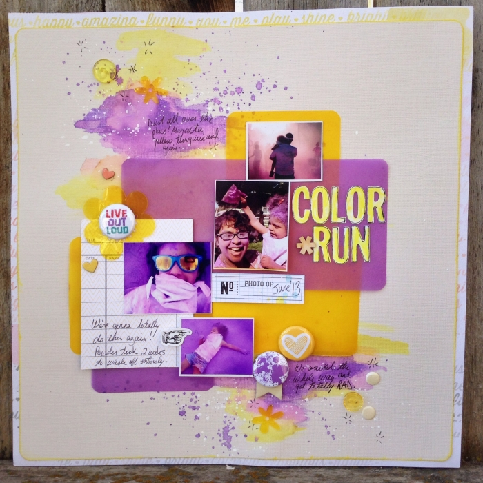 Scrapbooking Ideas for a Trendy Complementary Color Scheme of Purple and Yellow | Michelle Hernandez | Get It Scrapped