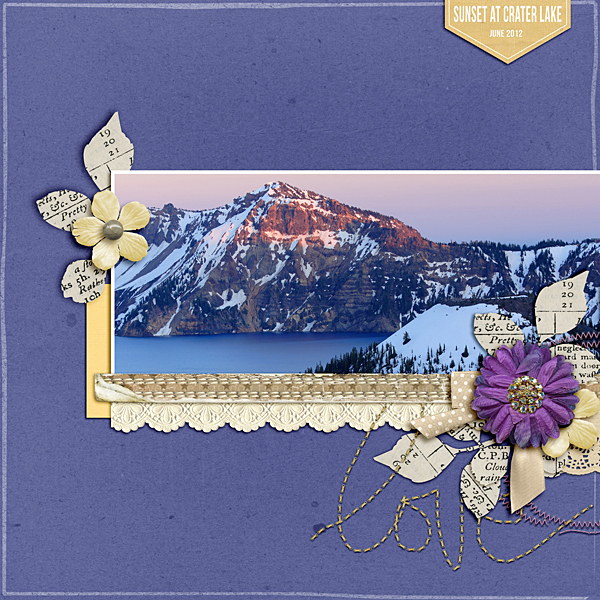 Scrapbooking Ideas for a Trendy Complementary Color Scheme of Purple and Yellow | Ronnie Crowley | Get It Scrapped