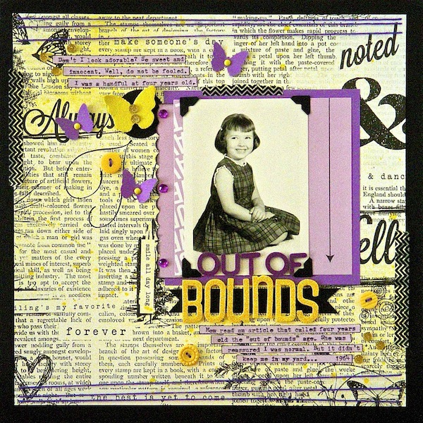 Scrapbooking Ideas for a Trendy Complementary Color Scheme of Purple and Yellow | Sue Althouse | Get It Scrapped