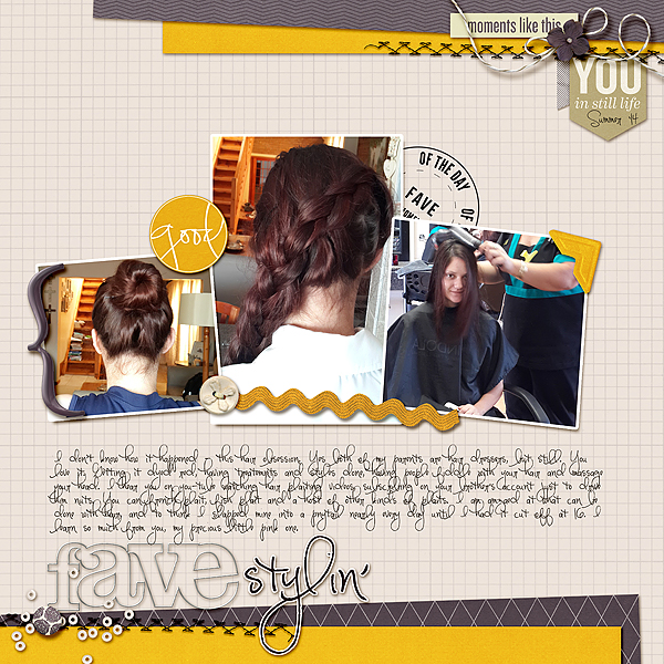 Scrapbooking Ideas for a Trendy Complementary Color Scheme of Purple and Yellow | Stefanie Semple } Get It Scrapped