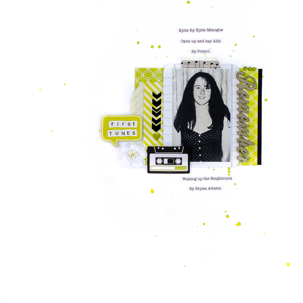 Ideas for Scrapbook Page Storytelling with Retro Tech Motifs | Kristy T | Get It Scrapped