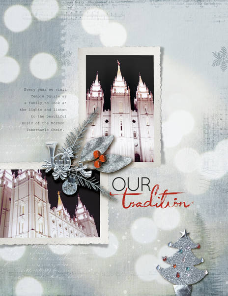 Our Tradition by Amy Kingsford | Supplies: Vinnie Pearce Downloads: Cinnamon Christmas