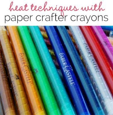 Mixed Media with Michelle Houghton |Paper Crafter Crayons and Heat Techniques