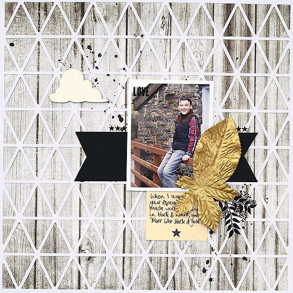 Ideas for a Black and Gold Scrapbook Page Color Scheme |  Amanda Robinson | Get It Scrapped