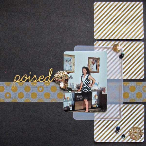 Ideas for a Black and Gold Scrapbook Page Color Scheme | Christy Strickler | Get It Scrapped