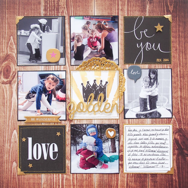Ideas for a Black and Gold Scrapbook Page Color Scheme | Marie-Pierre Capistran | Get It Scrapped