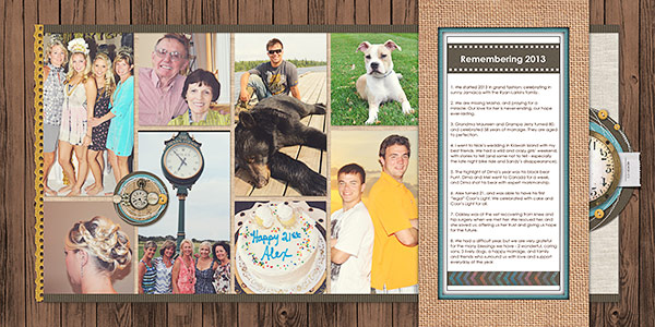 Scrapbook Design Ideas for Two-Page Layouts with the Cross and Bracket Foundations | Deborah Wagner |Get It Scrapped
