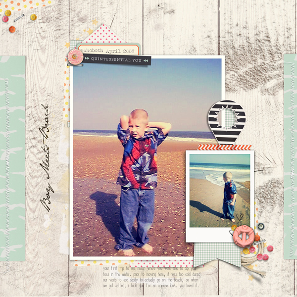 Scrapbook Page Storytelling with the Modern Nautical Style | Carrie Arick | Get It Scrapped