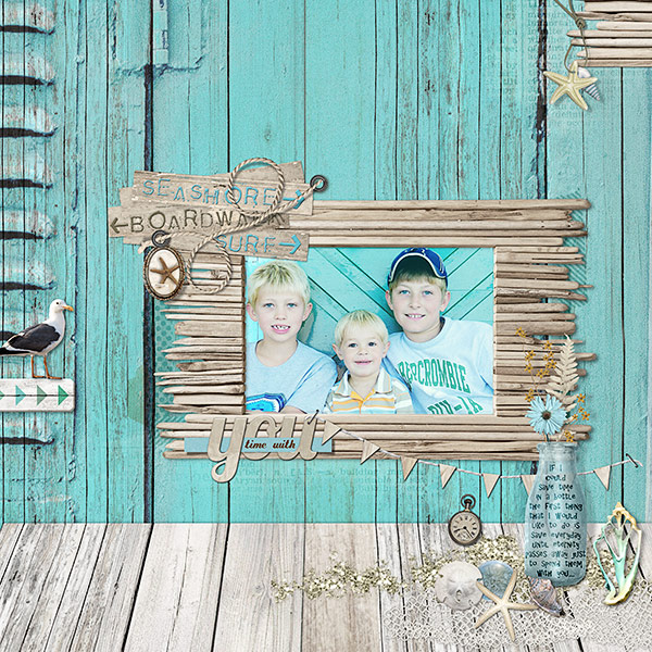 Scrapbook Page Storytelling with the Modern Nautical Style | Deborah Wagner | Get It Scrapped