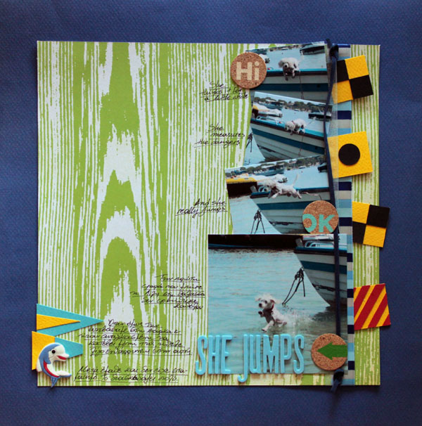 Scrapbook Page Storytelling with the Modern Nautical Style | Kiki Kougioumtzi | Get It Scrapped