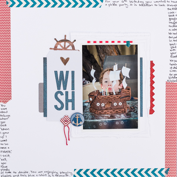 Scrapbook Page Storytelling with the Modern Nautical Style | Kristy T | Get It Scrapped