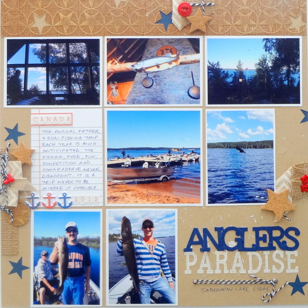 Scrapbook Page Storytelling with the Modern Nautical Style | Susanne Brauer | Get It Scrapped