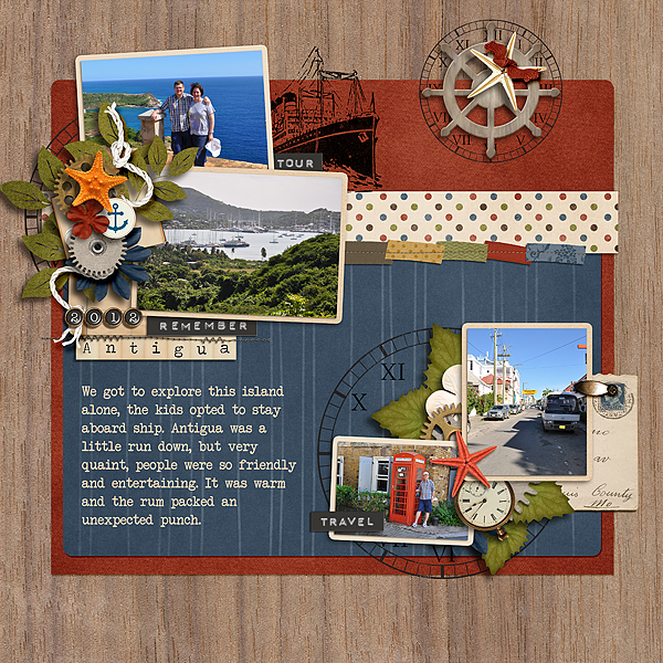 Scrapbook Page Storytelling with the Modern Nautical Style | Stefanie Semple | Get It Scrapped