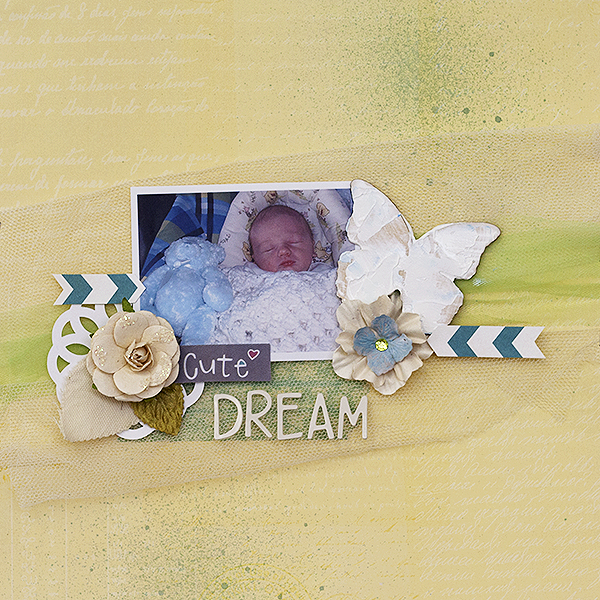 Scrapbooking Ideas for Adding Tulle to Your Pages | Amanda Robinson | Get It Scrapped