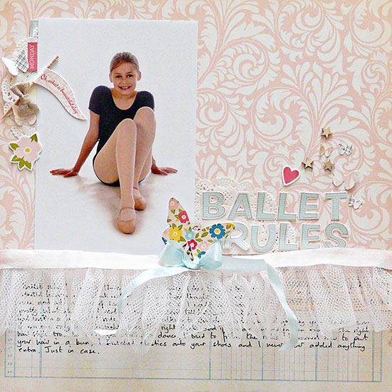 Scrapbooking Ideas for Adding Tulle to Your Pages | Sian Fair | Get It Scrapped