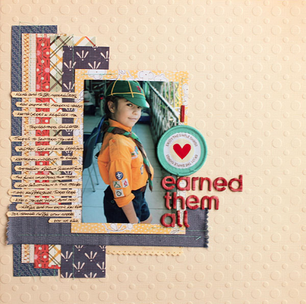 Ideas for Scrapbook Page Storytelling with Badges | Kiki Kougioumtzi | Get It Scrapped