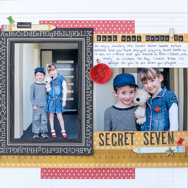 Ideas for Scrapbook Page Storytelling with Badges | Kristy T | Get It Scrapped
