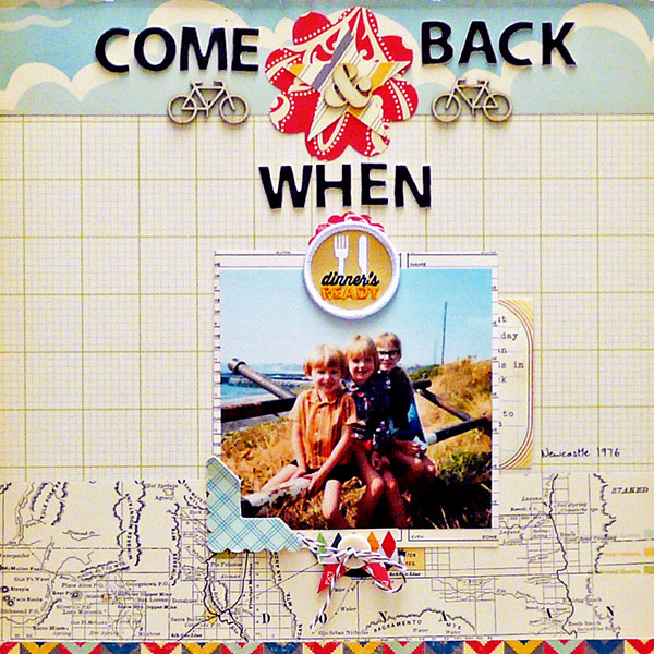 Ideas for Scrapbook Page Storytelling with Badges | Sian Fair | Get It Scrapped