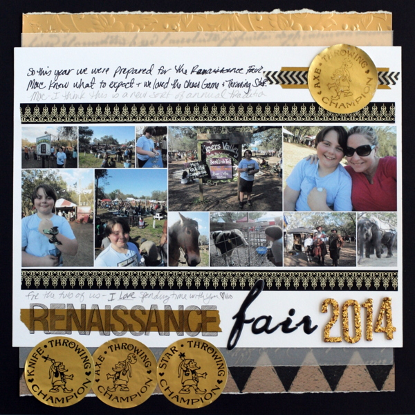 Ideas for a Black and Gold Scrapbook Page Color Scheme |  Katie Scott | Get It Scrapped
