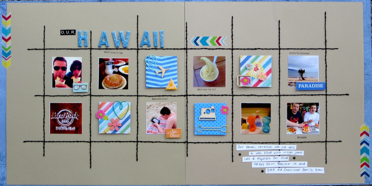 Scrapbook Design Ideas for Two-Page Layouts with Grid Foundations | Devra Hunt | Get It Scrapped