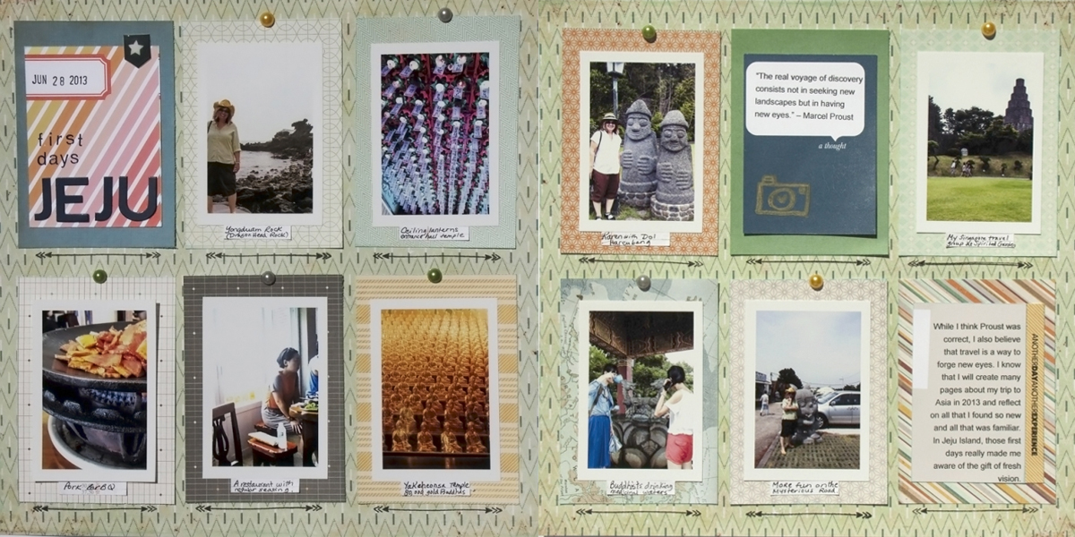 Scrapbook Design Ideas for Two-Page Layouts with Grid Foundations | Karen Poirier-Brode | Get It Scrapped