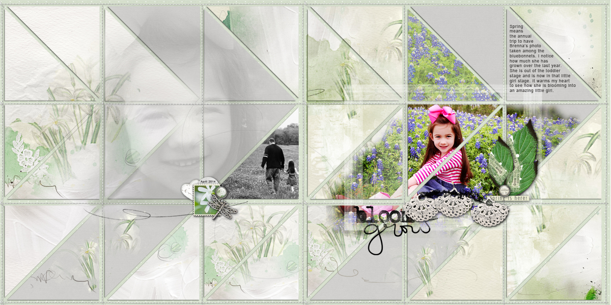 Scrapbook Design Ideas for Two-Page Layouts with Grid Foundations | Terry Billman  | Get It Scrapped
