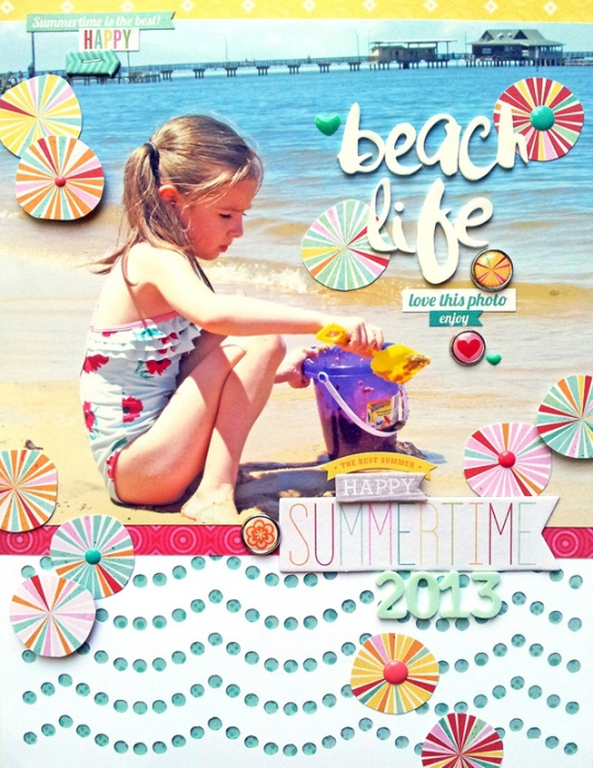 Scrapbooking Ideas for Water Play Photos | Beach Life by Ashley Horton | Get It Scrapped