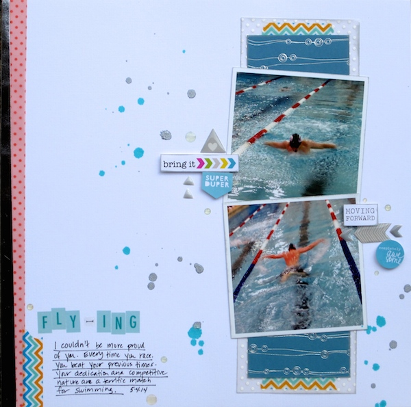 Scrapbooking Ideas for Water Play Photos | Devra Hunt | Get It Scrapped