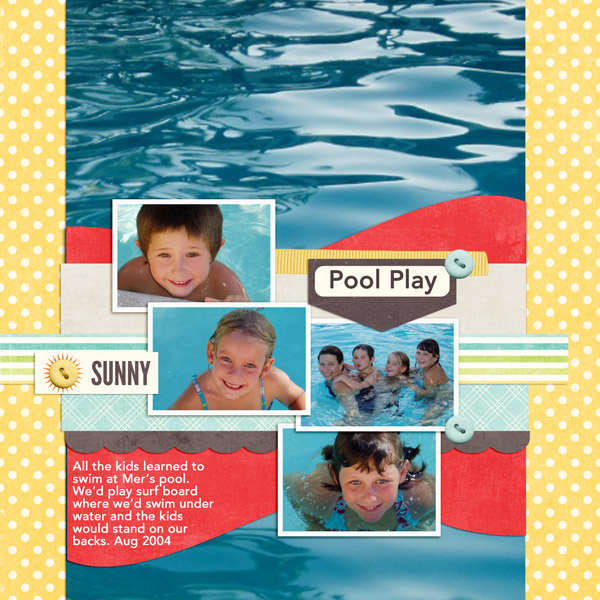 Scrapbooking Ideas for Water Play Photos | Jennifer Kellogg | Get It Scrapped