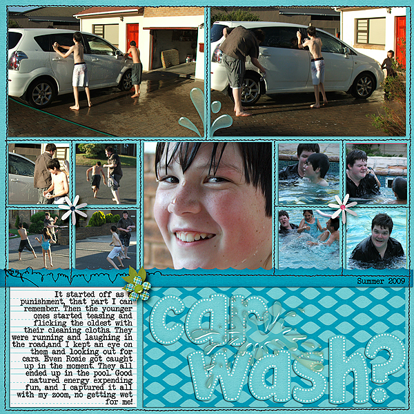 Scrapbooking Ideas for Water Play Photos | Ronnie Crowley | Get It Scrapped